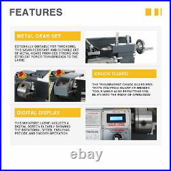 8x16 Inch 2250rpm Mini Metal Lathe w 1100W Brushless Motor for Woodworking More