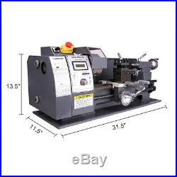 8x16 Mini Metal Lathe Variable-Speed Automatic 750W Cutting Tooling Machine