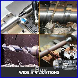 8x16 Mini Metal Lathe WithLamp&9 Cutters&2 Chucks 50-2500RPM 750W Nylon Gears