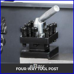 8x16 Mini Metal Lathe WithLamp&9 Cutters&2 Chucks 750W Digital Display Benchtop