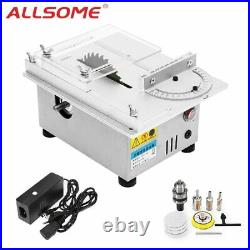 ALLSOME T4 Mini Table Saw Handmade Woodworking Bench Lathe Electric Polisher