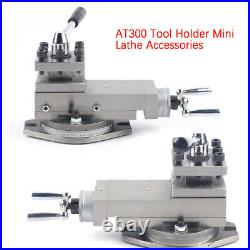 AT300 Tool Holder Mini Lathe Accessories Metal Change Lathe Tool Post Assembly