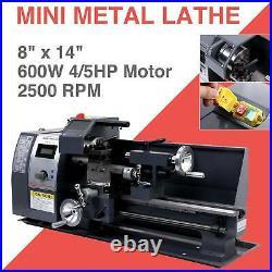 Auto 600w 8x14 Variable-Speed Mini Metal Lathe Motor Metalworking Milling BHM