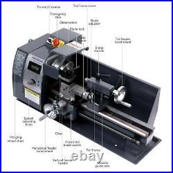 Auto 600w 8x14 Variable-Speed Mini Metal Lathe Motor Metalworking Milling BPT