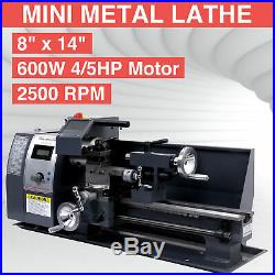 Automatic 8x14 Variable-Speed Mini Metal Lathe Motor Metalworking Milling 600w