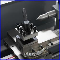 Benchtop Mini Metal Lathe Cutting Machine for Wood and Metal 7x12 550W 2250rpm