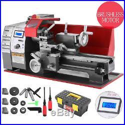 Brushless motor Mini Metal Lathe Woodworking Tool 600W Variable Speed Machine