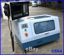 C56A 220V ADTECH Micro Mini CNC Lathe Machine Hardware Steel Metal Woodworking