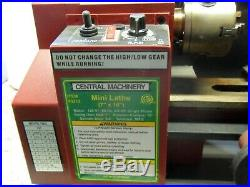 Central Machinery Mini Metal Lathe 7x10