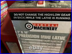 Central Machinery Precision 7x10 Mini Lathe withAll Options
