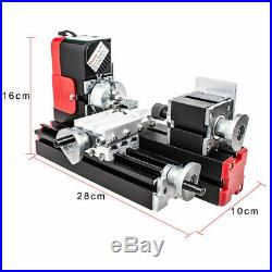 DC 12V 24W DIY Miniature CNC Metal Multifunction Mini Lathe Machine 20000Rev/min