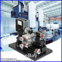 DC 12V 60W DIY BigPower Mini Metal Rotating Lathe 12000r/min Motor High Quality
