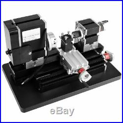 DC 12V 60W DIY Miniature CNC Metal Multifunction Mini Lathe Machine 12000rpm
