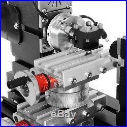 DC 12V 60W TZ20002MR DIY BigPower Mini Metal Rotating Lathe 60W 12000r/min Motor