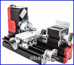 DC 12V DIY Mini Wood Metal Motorized Lathe Machine Woodworking Turning Tool US