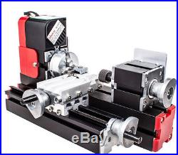 DC12V Mini Lathe Machine Metal Motorized 20000rev/min DIY Tool for Woodworking