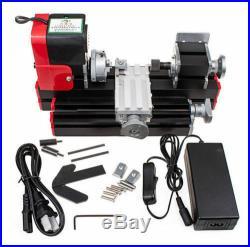 DIY CNC Metal Motorized Mini Lathe Machine For Hobby Model Making 20000rev/min