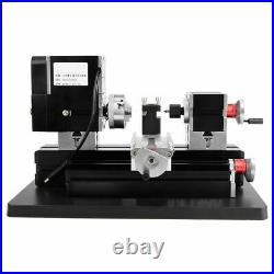 DIY Mini Metal Lathe Machine 60W Variable Speed 12000 RPM with Powerful Motor