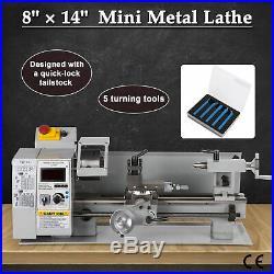 Digital 8x14 Mini Metal Lathe Metalworking Woodworking 650W Spindle DC Motor