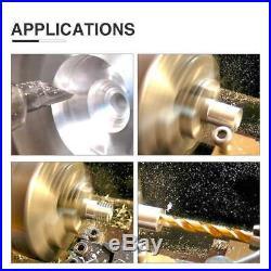 Digital Mini Metal Lathe Metalworking DIY Processing Variable Speed Bench 8x14
