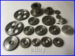 Freeshipping 18pcs/set mini lathe gears, Metal Cutting Machine gears, lathe