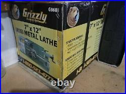 Grizzly G8688 7 x 12 Mini Metal Lathe New In Box