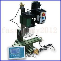 High Power 100W Digital Display Metal Mini Lathe Milling Machine DIY Millier