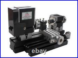 High Power 60W Mini Metal Lathe Soft Metalworking Woodworking DIY Lathe Machine