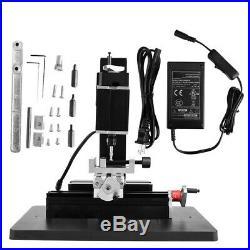 High Power Metal Mini Lathe DIY Micro Milling Machine Metal Processing Tool 60W