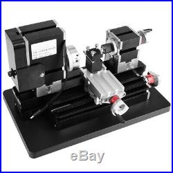 High Power Mini Lathe Mental Machine For Woodworking Metal DIY Tool Modelmaking