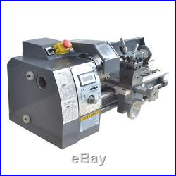 High Precision 750W Mini Digital Metal Lathe Variable Speed Workbench 8''x16'