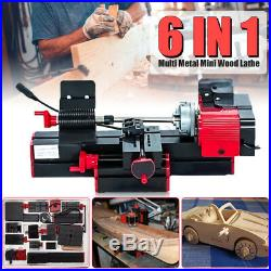 Jig-Saw 6 In 1 Mini Multi Metal Lathe Wood Model Milling Drilling Machine CNC