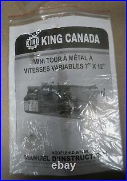 KING CANADA 7 x 12 Mini Metal Lathe