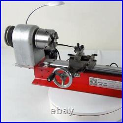 Lathe Machine Mini DIY Tool f/ Wooden Soft Metal Al Metal Bead Lathe+4 Jaw Chuck