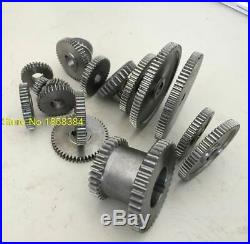 Metal Cutting Machine Sprockets 17 PCS Mini Lathe Metal Tool Set Exchange Gears