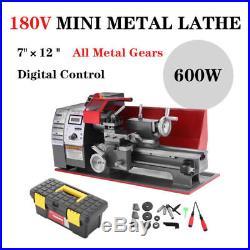 Metal Lathe 3-jaw 600W Mini Metal Torno CE motorizado Máquina Hazlo tú