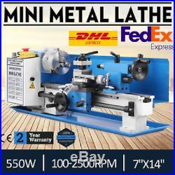 Metal Lathe 7 x 14 Inch Precision Mini Lathe 2500RPM 550W Variable Speed
