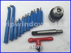 Metal Lathe 850W Mini Lathe 8x16 Bench Variable Speed 3jaw Chuck Jade Screw