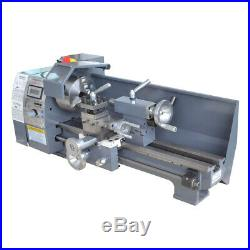 Metal Lathe Digital Workbench 8''x16'' High Precision Variable Speed 750W Mini