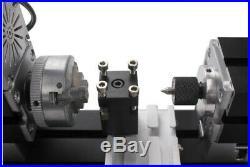 Metal Mini Motorized Lathe Machine 24W Woodworking DIY Power Tools Modelmaking