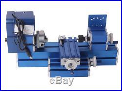 Metal Mini Turning Lathe Machine Motorized Metalworking DIY Wood Tool Universal