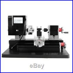 Metalldrehmaschine Mini-Drehmaschine Metalldrehbank 60W Metal Lathe Metalworking