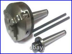Mini 3 Jaw Metal Lathe Chuck 50mm Self Centering MT1 and MT2 Tap (6pcs)