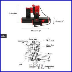 Mini DIY 6 in 1 Plastic Metal Lathe rilling Sanding Turning Milling Tool Kit US