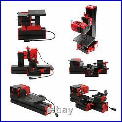 Mini DIY 6 in 1 Plastic Wood Metal Motorized Lathe Machine Tool 100-240V L9Z9