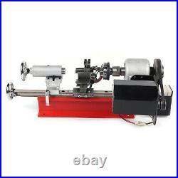 Mini Desktop Lathe Machine DIY Tool Wood Metal Al Manufacturing Meltalworking US