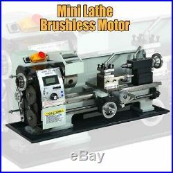 Mini Lathe Brushless Motor 850W Digital Display 38mm Spindle Hole Machine Metal