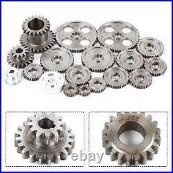 Mini Lathe Gears CJ0618 Set Metal Cutting Machine Gear Accessories 18 Pieces New