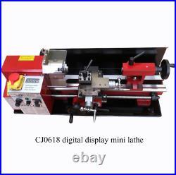 Mini Lathe Machine Brushless Motor All Metal Gears 650w Metalworking Digital Con