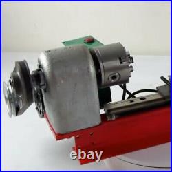 Mini Lathe Machine Wood Metal Lathe Turning Thread 65mm 4 Jaw Chuck 50-2500RPM